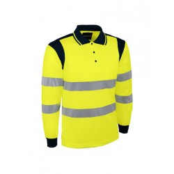 Polo jaune haute visibilité...