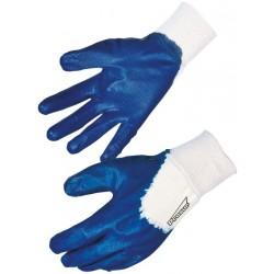 Gant nitrile bleu enduction...
