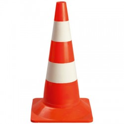 Cône de signalisation orange